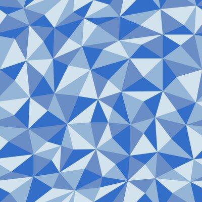 Fototapet Blå krämigt papper med geometriskt sömlöst mönster