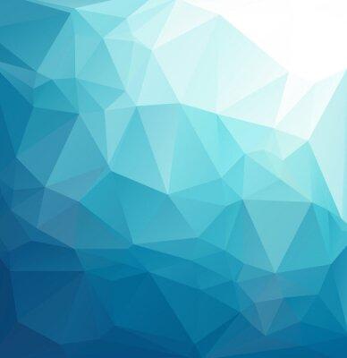Fototapet Blå Polygonal mosaik bakgrund, Creative mallar