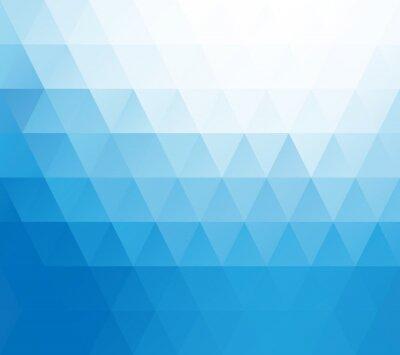 Fototapet Blå vit mosaik bakgrund, Creative mallar