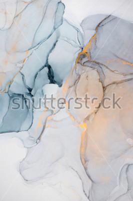 Fototapet Bläck, färg, abstrakt. Närbild på målningen. Färgrik abstrakt målning bakgrund. Mycket texturerad oljemålning. Högkvalitativa detaljer.
