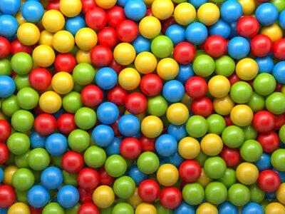 Fototapet blandad färg bollar bakgrund