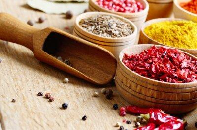 Fototapet blandade kryddor
