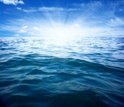 Fototapet Blått hav och sol