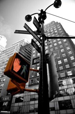 Fototapet blinkande ljus new york boradway
