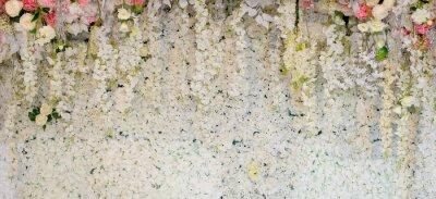 Fototapet blomma bakgrund. bakgrundsbröllop dekoration. Rosmönster. Väggblomma, färgglad bakgrund, frisk ros
