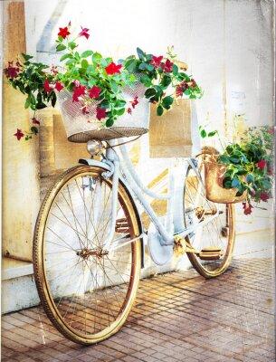 Fototapet blommig cykel - tappningkort
