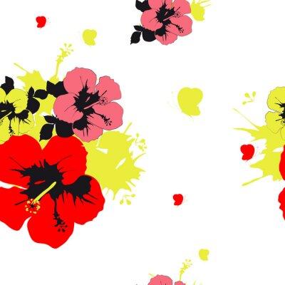 Fototapet blommor utformning