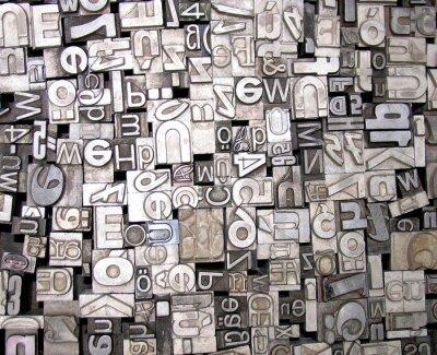 Fototapet bokstäver