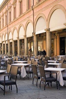 Fototapet Bologna - restaurang