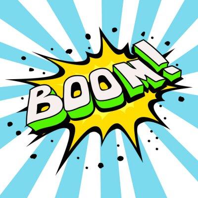 Fototapet Boom Comic Speech Bubble, Cartoon