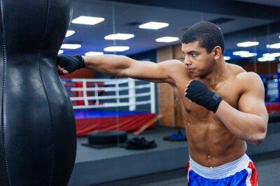 Fototapet Boxare träning i gymmet