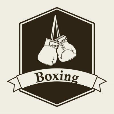 Fototapet boxning emblem