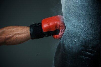 Fototapet Boxningsträning och boxningssäck