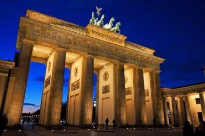 Fototapet Brandenburger Tor på kvällsljus