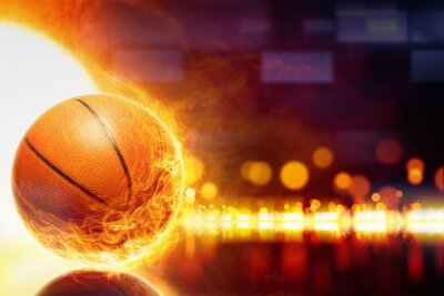 Fototapet brinnande basket
