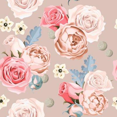 Fototapet Bröllop blommor sömlösa