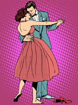 Fototapet Bröllop dansvänner man och kvinna