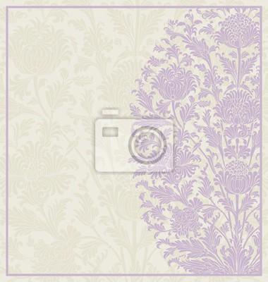 Fototapet bröllop kortdesign, paisley blommönster, Indien