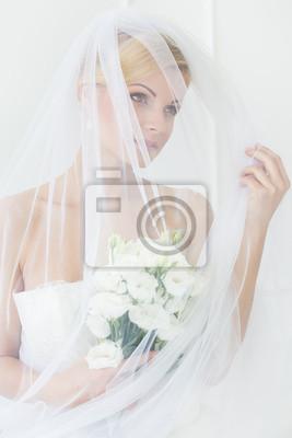 Fototapet Bröllop. Vacker brud