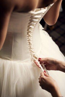 Fototapet Bröllopsklänning
