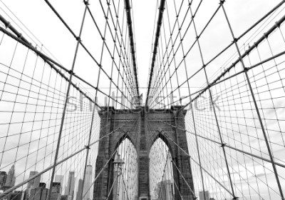 Fototapet Brooklyn Bridge in New York City, USA