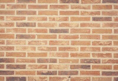 Fototapet Brun sten tegelvägg konsistens och bakgrund sömlös.