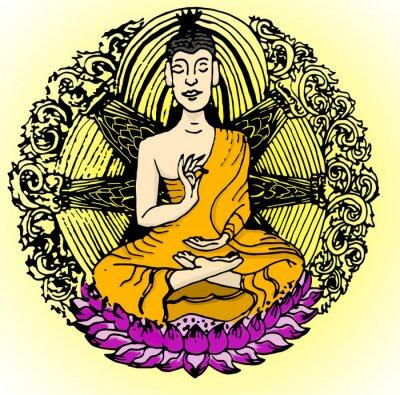 Fototapet Buddha färg.
