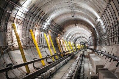 Fototapet Byggandet av tunnelbanan tunneln
