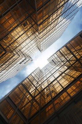 Fototapet byggnader abstrakta