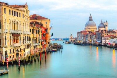 Fototapet Canal Grande och basilikan Santa Maria della Salute, Venedig, Italien