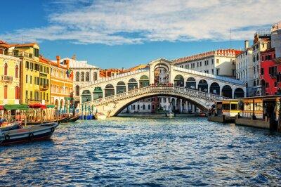 Fototapet Canal Grande och Rialtobron, Venedig, Italien