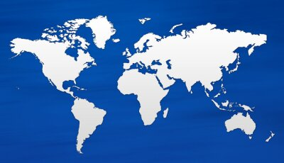 Fototapet carte du monde