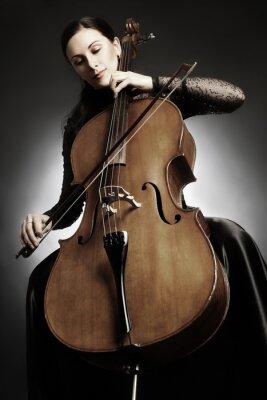Fototapet Cello spelare cellist spelar