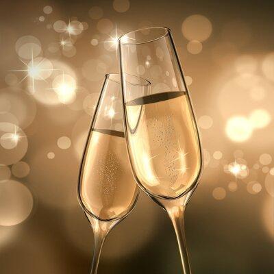 Fototapet champagne Datum