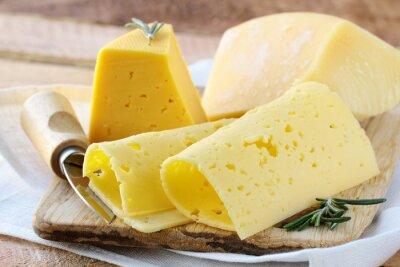 Fototapet Cheese olika sorters ost för förrätt