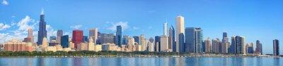 Fototapet Chicago horisont panorama med Lake Michigan, IL, USA