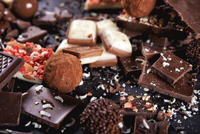 Fototapet choklad godis