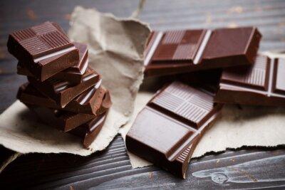 Fototapet Choklad med rustik papper