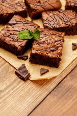 Fototapet chokladkaka på en plåt