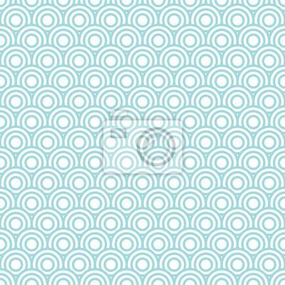 Fototapet Cirklar retro seamless Turquoise