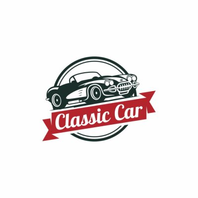 Fototapet Classic Car Vector mall