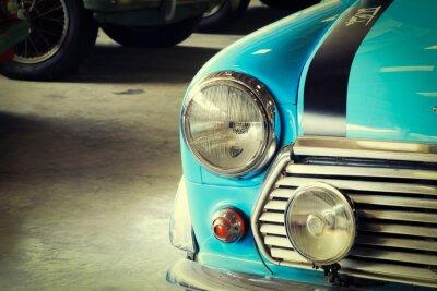 Fototapet Close Up Front av en mjuk grön Veteranbil