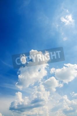 Fototapet Cloudscape av klarblå himmel
