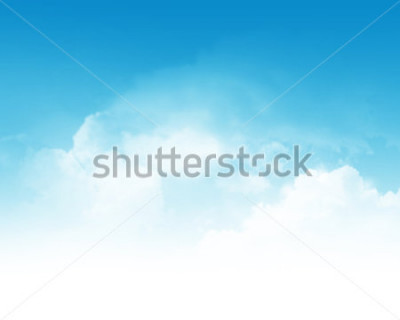 Fototapet Cloudy blue sky abstract background