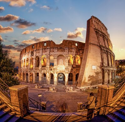 Fototapet Colosseum på kvällen, Rom, Italien