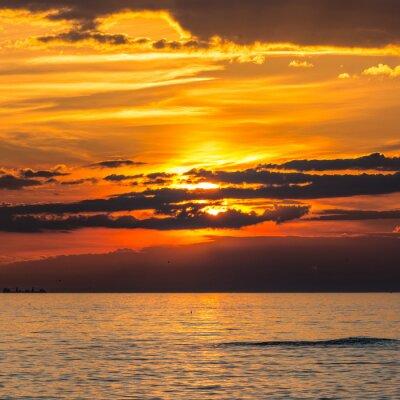 Fototapet coucher de soleil à Audresselles