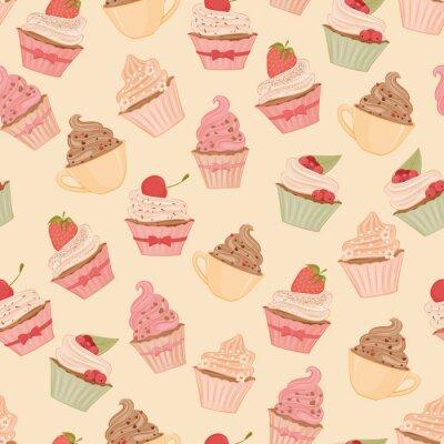 Fototapet Cupcakes