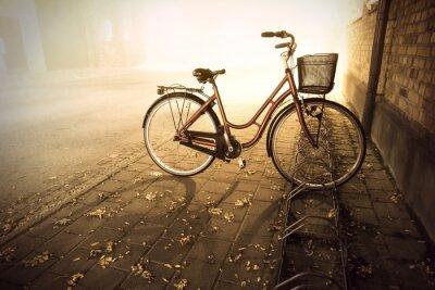 Fototapet Cykel i höst