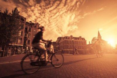 Fototapet cykla i staden