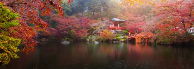 Fototapet Daigoji tempel i höst